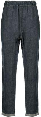 Bassike straight-leg denim trousers