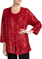 Caroline Rose Sequined Open Jacket
