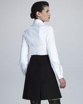 Chado Ralph Rucci Crepe Panel Skirt