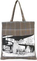 Stella McCartney tartan graphic tote bag - men - Cotton/Polyamide/Spandex/Elastane/Wool - One Size