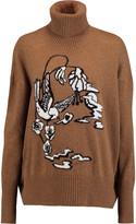 Markus Lupfer Birdland intarsia-knit wool turtleneck sweater
