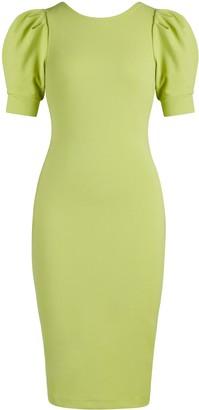 New York & Co. Puff-Sleeve Tie-Back Sheath Dress