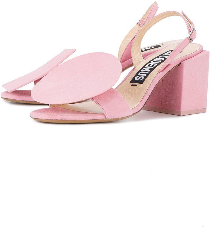 Jacquemus geometric suede sandals