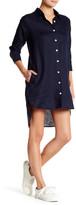 Allen Allen Linen Shirt Dress (Petite)