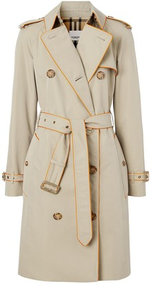 Burberry Pipe-Trimmed Trench Coat
