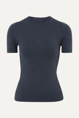 JoosTricot Stretch Cotton-blend Sweater - Navy