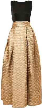 Paule Ka Full Shape Jacquard Gown