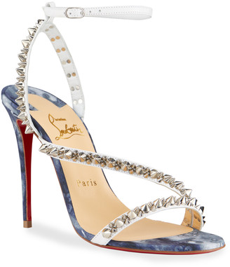 Christian Louboutin Mafaldina Spike Red Sole Sandals