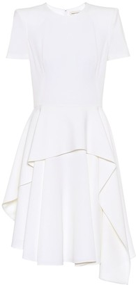 Alexander McQueen Asymmetric wool-crepe dress