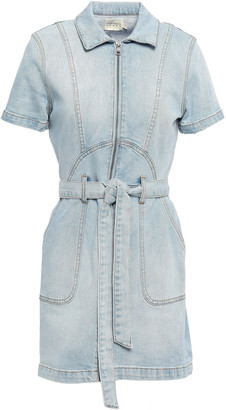 Alice + Olivia Belted Denim Mini Dress