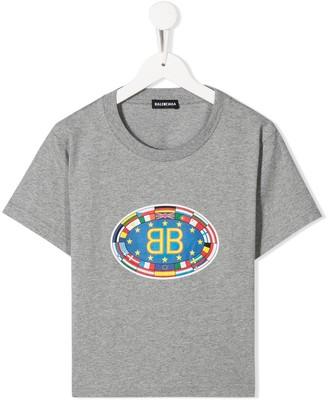 Balenciaga Kids logo print T-shirt