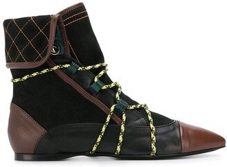 Carven flat ankle boots