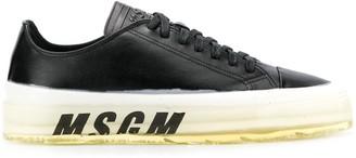 MSGM printed logo sneakers