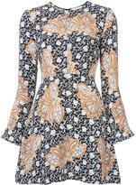 A.L.C. printed short dress - women - Silk - 4