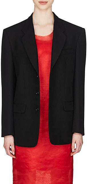 Maison Margiela Women's Wool-Blend Two-Button Blazer - Black