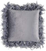 """Eightmood Joselyn Feather Frame, Throw Pillow, Anthracite, 16x16"""", Anthracite"""