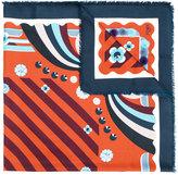 Fendi Touch of fur shawl - women - Mink Fur/Silk/Wool - One Size