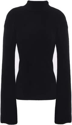 Autumn Cashmere Cutout Ribbed Merino Wool-blend Sweater