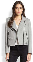 uncategorized  Who made Kate Maras gray leather jacket that she wore at LAX airport on August 26, 2014?