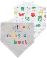 Tu clothing 2 Pack Multicoloured Monster Hanky Bibs
