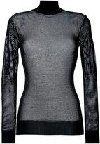 DKNY roll neck mesh jumper