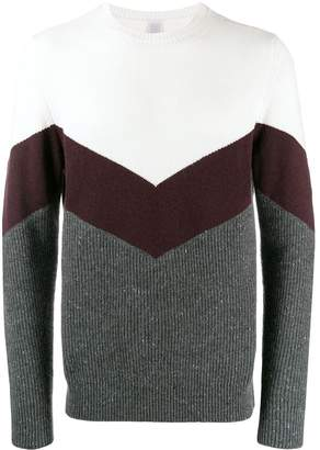 Eleventy relaxed-fit colour-blocked jumper