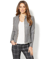 New York & Co. Quilted Peplum Moto Jacket