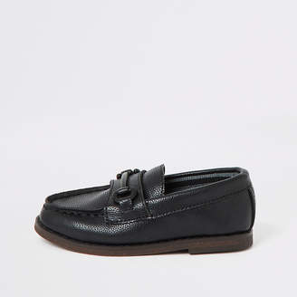 River Island Mini boys black snaffle loafers