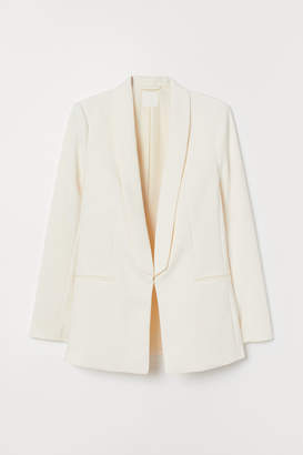 H&M Shawl-collared Jacket - White