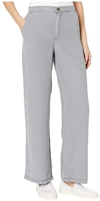 XCVI Flare Slacks in Pennant Chevron (Aegeam Blue Pigment) Women's Casual Pants