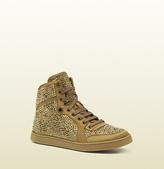 Gucci Coda Satin Effect Fabric High-Top Sneaker