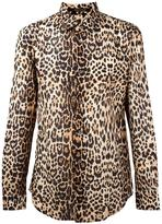 Roberto Cavalli leopard print shirt - men - Cotton - 40