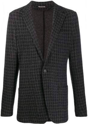 Canali single-breasted houndstooth blazer