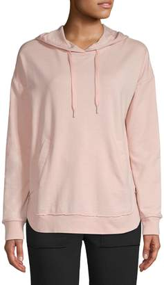 Andrew Marc Dropped-Shoulder Cotton-Blend Hoodie