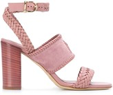Tod's woven heeled sandals