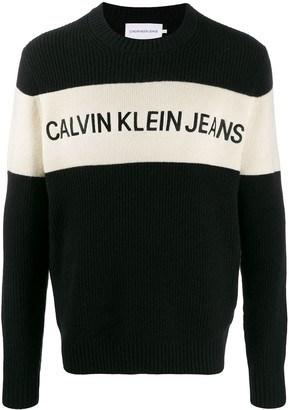 Calvin Klein Jeans Bae knitted logo jumper