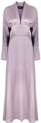 Taller Marmo Elvira lilac stretch-silk maxi dress