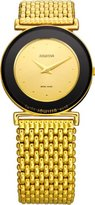 Jowissa Women's J3.017.M Elegance Gold PVD Gold Tone Dial Watch