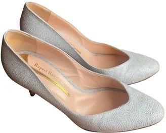 Rupert Sanderson White Leather Heels