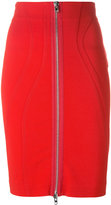 Givenchy zip fitted skirt - women - Viscose/Polyamide/Spandex/Elastane/Silk - 38