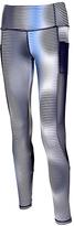 Therapy White & Silver Stripe Mesh-Pocket Active Leggings - Plus Too