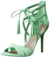 XYD Women Open Toe Strappy Heels Suede Sexy Prom Stiletto Sandals Size 9