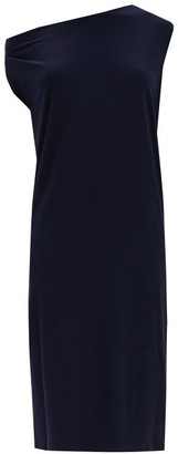 Norma Kamali Asymmetric Dropped-shoulder Jersey Dress - Black