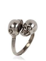 Alexander Mcqueen - Twin Skull Brass Ring