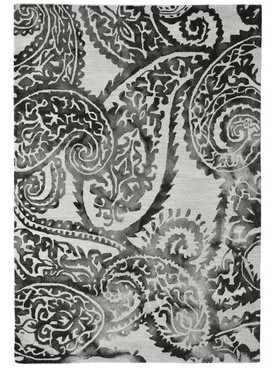 Wool Floral Hand-Tufted Ivory/Black Area Rug Eastern Weavers Rug Size: 5' x 8'