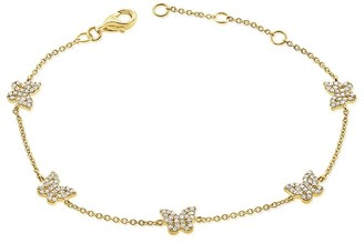 Sabrina Designs 14K 0.40 Ct. Tw. Diamond Butterfly Bracelet