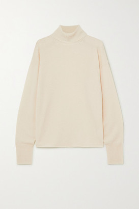 Reformation Cashmere And Wool-blend Turtleneck Sweater - Ivory