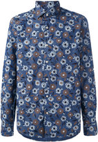 Xacus floral print button-up shirt