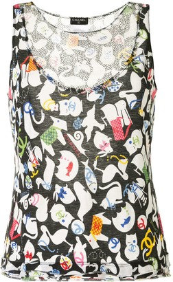 Chanel Pre Owned 2007 Animals Print Tank Top