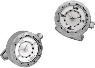 Jan Leslie Stainless Steel Watch Cufflinks